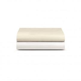 Простыня на резинке Luxury Сатин 430ТС белая
